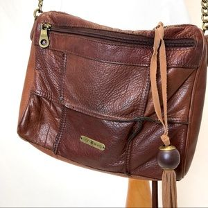 Lucky Brand   leather patchwork crossbody bag